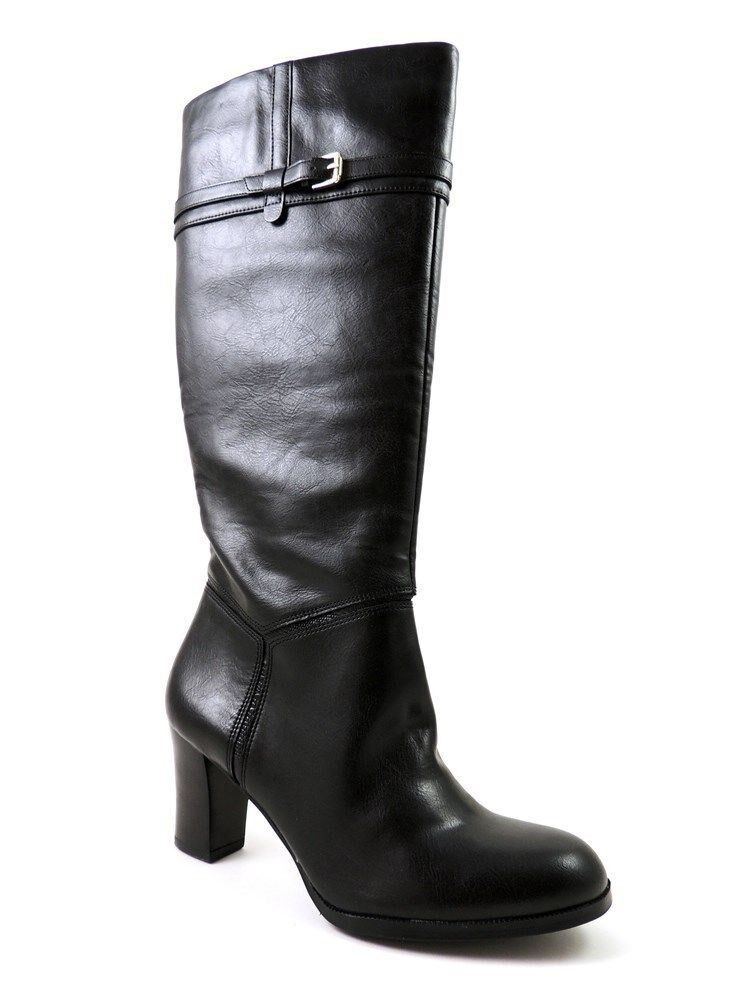 Naturalizer Women's Larissa Knee-High Boots Black Smooth Lizard Size 8 M