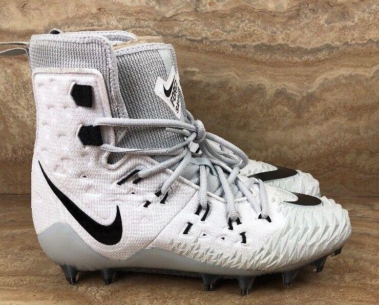 Nike Force Savage Elite TD Football Cleats White Black High Top