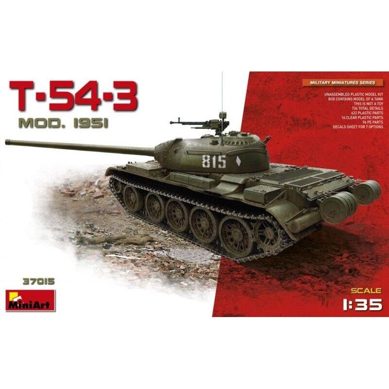 Minikonst 37015 35 -skala T -54 -3 Medium Tank (Mod.1951