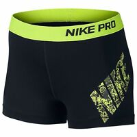 Nike Pro Women's 3 Inch Dry Fit Running Gym Shorts Size M L & Xl - Oz Stock
