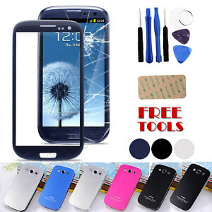 Replacement-Front-Outer-Screen-Glass-Lens-For-Samsung-Galaxy-S3-I9300-Free-Tools