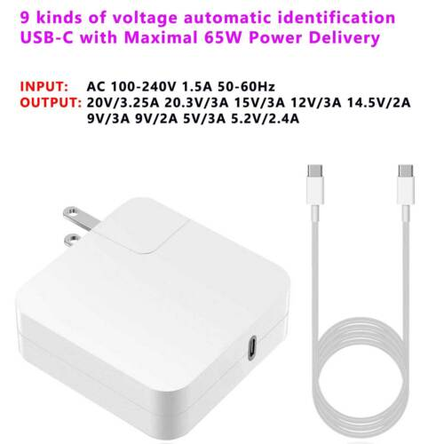 """NEW Compatible 61W USB-C Power Charger Adapter for Apple MacBook PRO 13/"""" A1718"""
