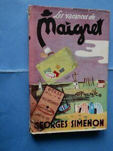 Edition-Originale-1950-GEORGES-SIMENON-Les-Vacances-de-Maigret-Rare-Jaquette