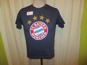 FC-Bayern-Muenchen-Original-Fan-Shop-T-Shirt-Navy-034-FC-Bayern-Logo-034-Gr-140-NEU