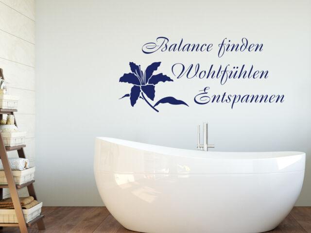 Wandtattoo Wellness Mit Blume Badezimmer Aufkleber Tur Fliesen Deko Spruche Wc Ebay