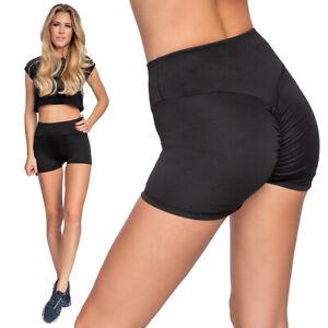 Women-High-Waist-Yoga-Hot-Shorts-Butt-Lift-Scrunch-Booty-Sports-Gym-Bottom-SM202