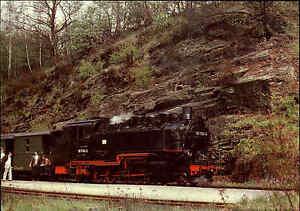 Eisenbahn-Motiv-Postkarte-DDR-Bahn-Schmalspurbahn-Freital-Hainsberg-bei-Kipsdorf