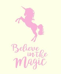 34e3df632aff Image is loading Unicorn-Wall-Art-039-Believe-in-the-Magic-