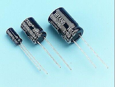 5 x 10uf 160 Volt 85 Deg Radial Electrolytic Capacitor US seller