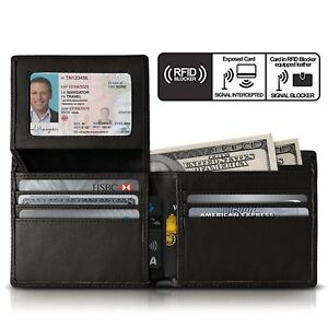 Wallet-for-Men-Genuine-Leather-RFID-Blocking-Bifold-Stylish-Wallet-Anti-Scan-US
