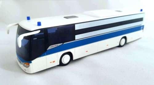 AWM 1:87,Setra 415 weiß-blau POLIZEI Bus Gefangenentransporter GefKw Verschubbus