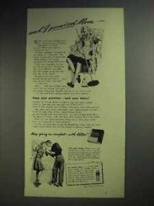 1943 Kotex Sanitary Napkin Ad - I Promised Mom