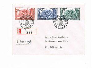 Liechtenstein Minr 180 182 Auf R Brief Einschreiben Gel In Die