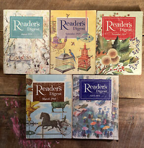 Readers Digest Magazine Lot of 5 - 1959, 1960, 1964