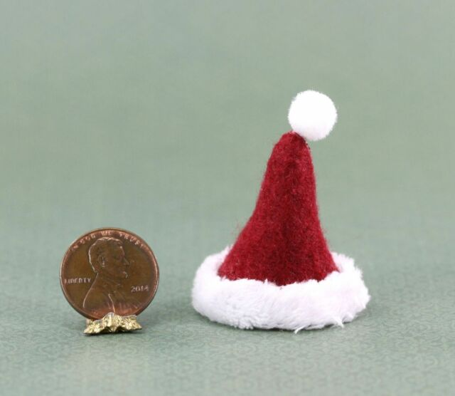 Dollhouse Miniature Artisan Handmade Santa Hat