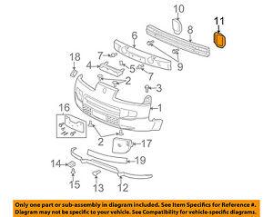 saturn gm oem 02 07 vue front bumper mount bracket left 22718708 ebay rh ebay com 2002 Saturn Vue Parts Diagram 2003 Saturn Vue Parts Diagram