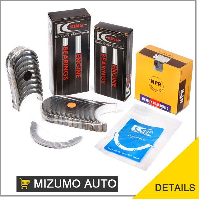 Piston Rings Main Rod Bearings Fit 95-99 Nissan 200SX Sentra GA16DE DOHC 1.6