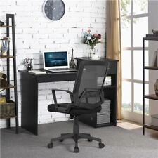 Home Office Computer Desk Wood Pc Laptop Workstation With Drawer Shelves Black