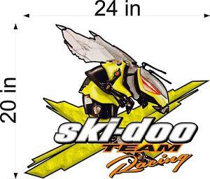 "20/"" Vinyl Graphic RED SKI-DOO Team 3DX Snowmobile Decal"