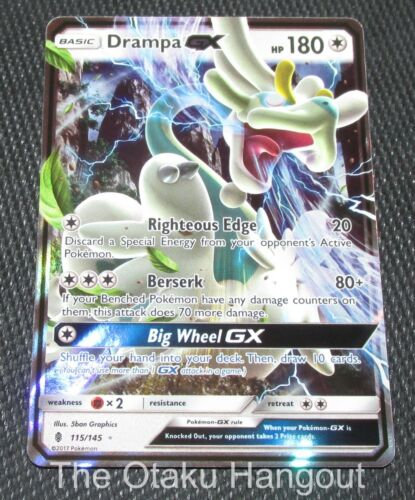 Drampa GX 115//145 SM Guardians Rising Set HOLO Rare Pokemon Card NEAR MINT