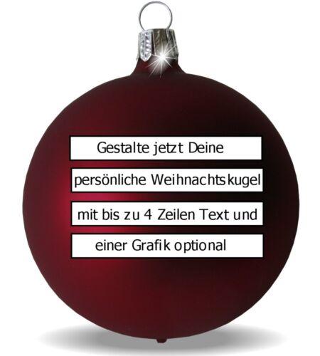 Christbaumkugel aus Glas mit Grafik oder Text graviert Weihnachtskugel Hochzeit