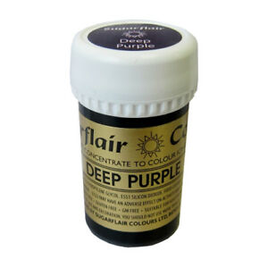 3-x-Sugarflair-25g-DEEP-PURPLE-Spectral-Paste-Gel-Edible-Food-Colour-Cake-Icing