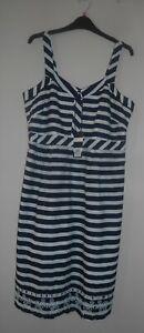 Ladies 14 Vestito Anglais Clothing 5054409540877 con a Crew strisce taglia di Bnwt Broderie bordino tw7qEUn