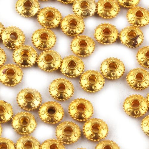 10 Pcs Gold Plated brass Japanese Cap Scratch Mat Finish brass Beads Jewelry A