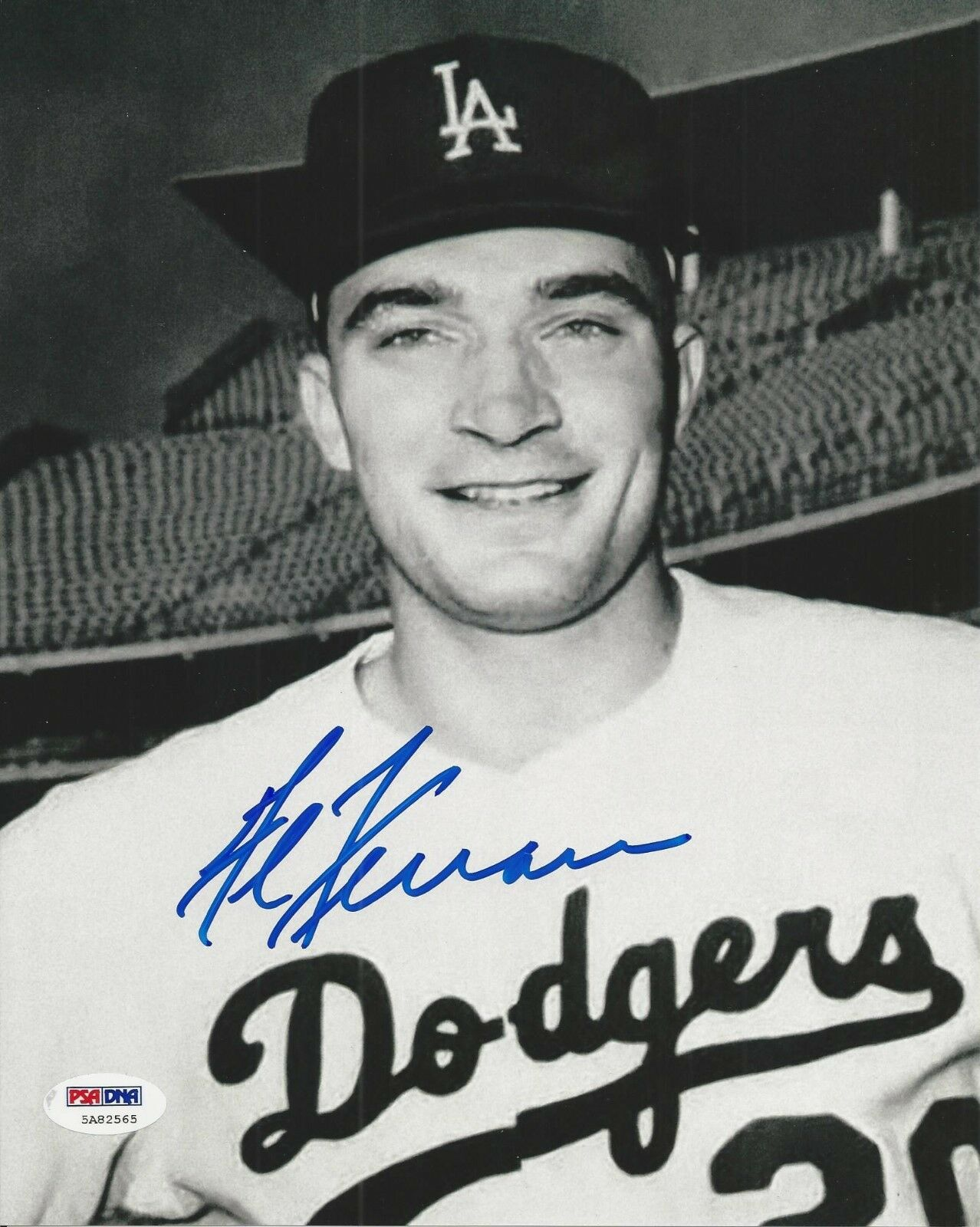 Al Ferrara signed Los Angeles Dodgers 8x10 photo PSA/DNA COA#5A82565