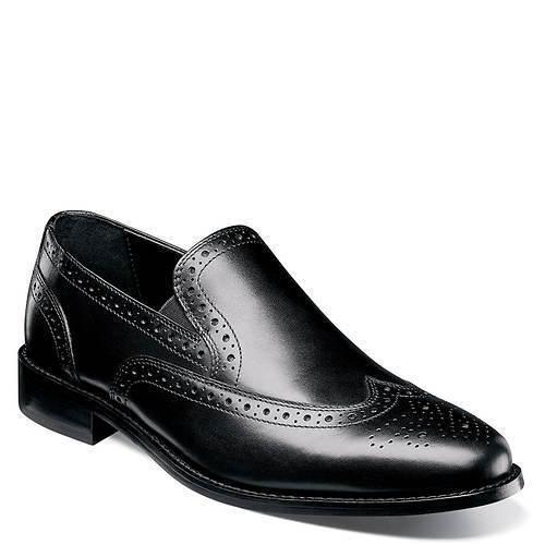 Nunn Bush Men's Norris Slip-On Loafer Wing Tip Leather 84690-001