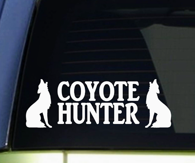 Howling Coyote decal varmint hunt call