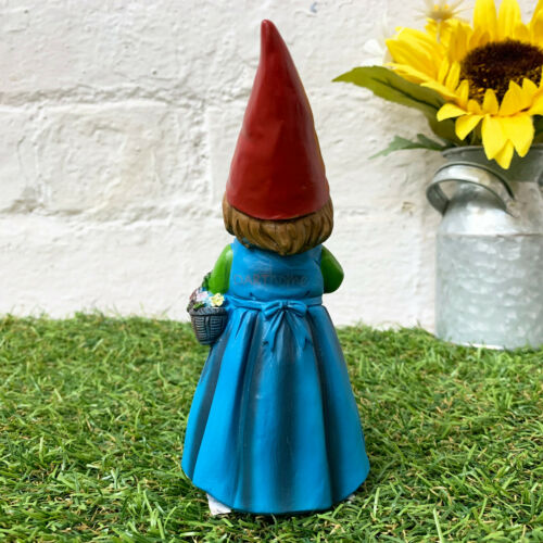 Vintage Resin Outdoor Garden Decor Lilly Gnome Colourful Figurine Ornament Gift