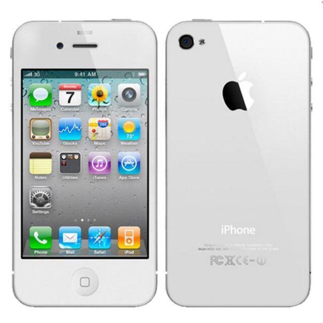 Apple iPhone 4 32GB White Verizon Prepaid A1349 (CDMA) Page Plus Straight Talk