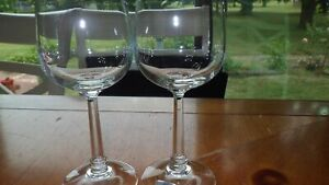 Clear Crystal Wine glasses by Mikasa made in Germany ELegant stem lovely tone 2