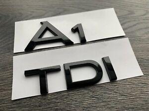 AUDI-A1-TDI-GLOSS-BLACK-BADGE-SET-FINISH-LETTERING-S-LINE-BLACK-EDITION-S1