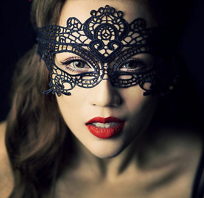 BLACK VICTORIAN MASQUERADE MASK Halloween Christmas New Year Eve Costume Party