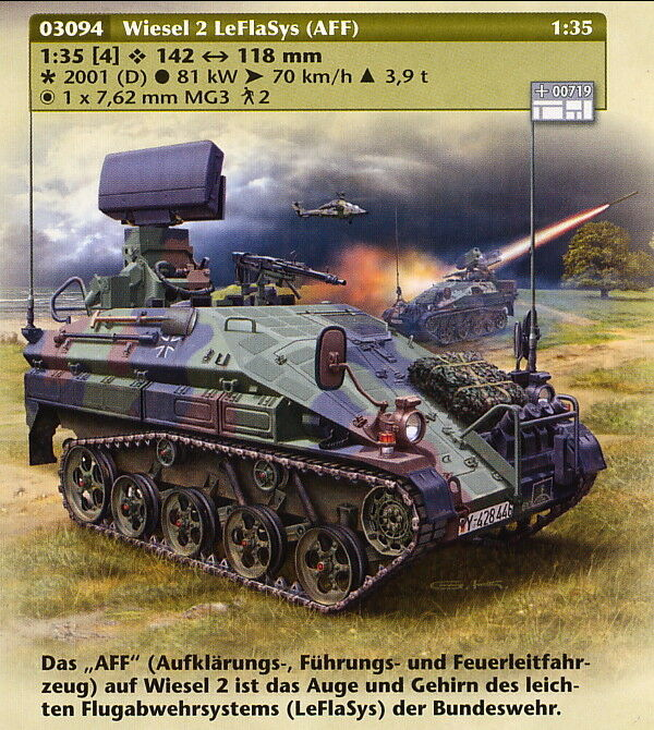 Wiesel Aff 2 Leflasys, Revell Solid Model Kit 1 3 5, 03094