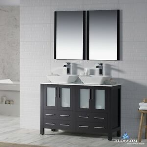 """BLOSSOM 48"""" SYDNEY DOUBLE SINK BATHROOM VANITY WITH VESSEL ..."""