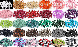 80 St Holzperlen Perlen Holz 8 Mm Einfarbig Oder Im Mix Wahlweise