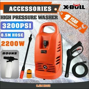 X-BULL-High-Pressure-Water-Cleaner-Washer-3200PSI-Electric-Pump-Hose-Gurney