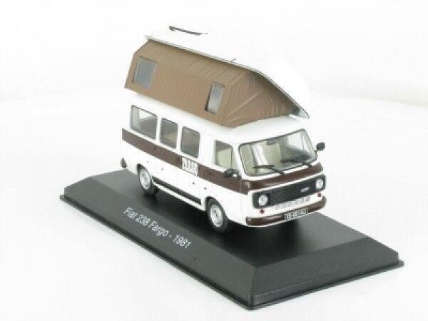 1 43 IXO FIAT 238 Fargo 1981 caravane camping car 30