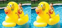2) Swimline 9062 Inflatable Swimming Pool Giant Ducky Ride-on Floating Toy Rafts on sale