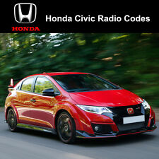 Honda Civic Type R/S Radio Code Stereo Codes Fast Unlock Service UK
