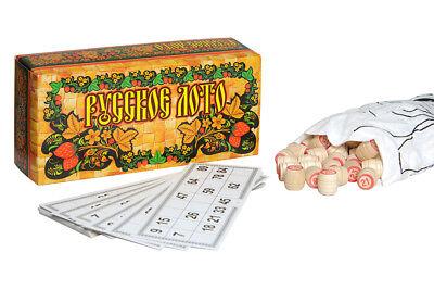 Russisches Lotto in Box Brettspiele Spiel Gesellschaftsspiele Spielzeug spielen