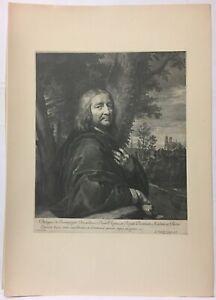 Engraving-Portrait-of-Philippe-of-Champaigne-Gerard-Edelinck
