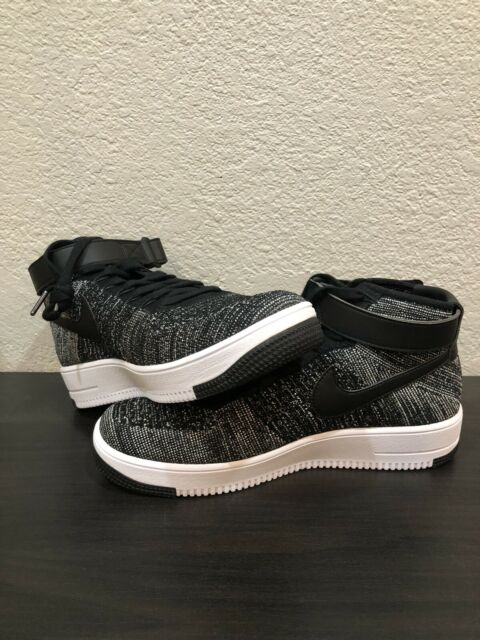 100% authentic f5d63 20dc4 Nike Air Force 1 Af1 Oreo Ultra Flyknit Mid Black White 817420-004 Size 9