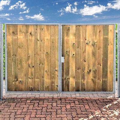 Holz Tor Gartentor Holztor NEU Einfahrtstor 400 x 160cm 2-flügelig Verzinkt