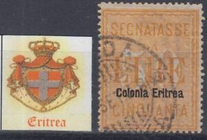 Italy-Eritrea-1903-50-Lire-Tax-n-13-used-cv-480