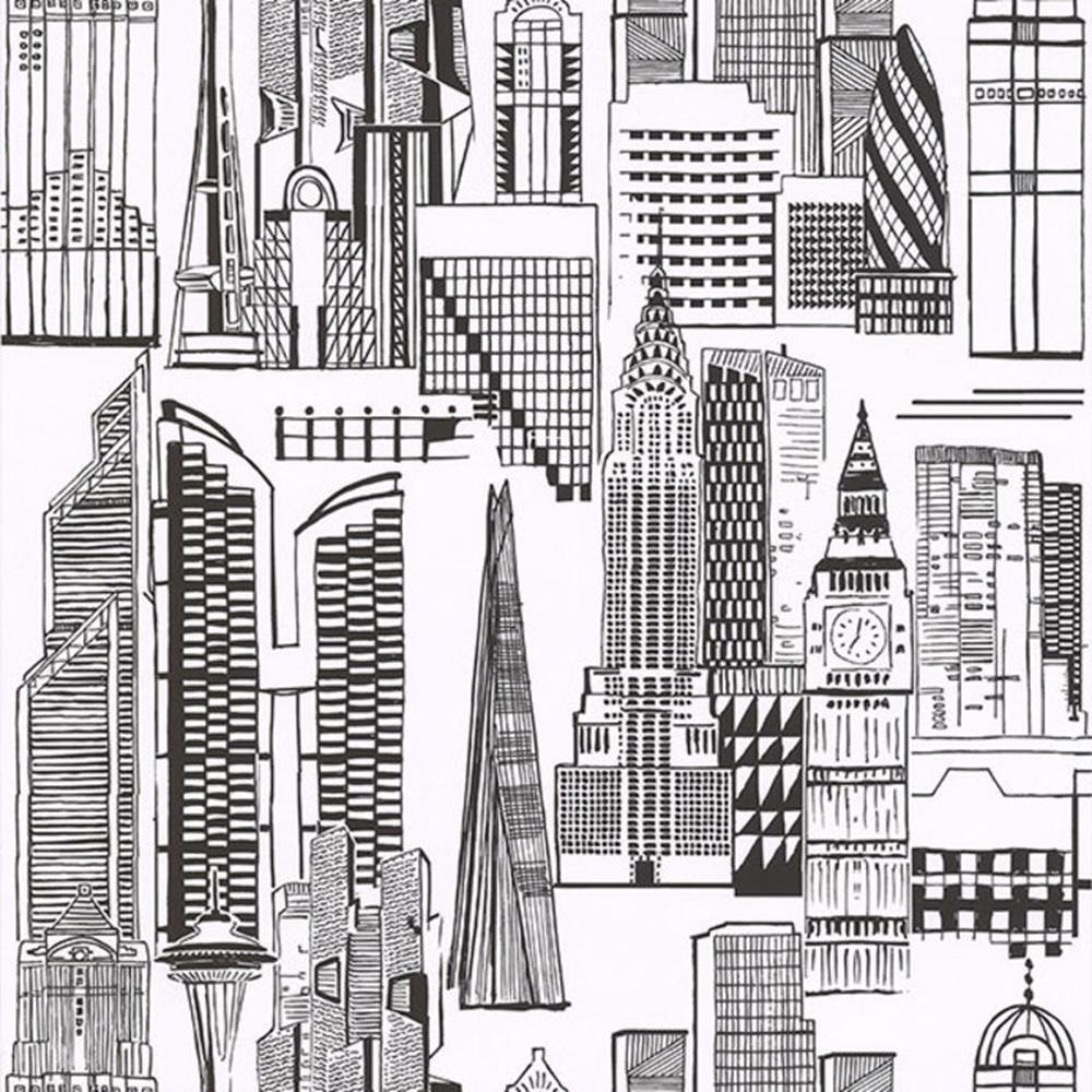 51164109 - City Life London Thema black white Galerie Tapete