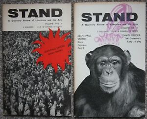 Jean Paul Sartre Black Orpheus in 2 issues of STAND Quarterly Magazine 1960-1